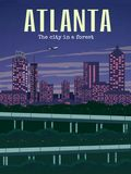 ATLANTA-PLAKAT lizenzfreies stockfoto