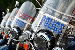 Atlanta Police Motorbikes Stock Photography