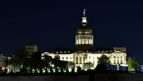 Atlanta& x27;s Capitol. The Capitol building in Atlanta at about 2 am. Even with a construction crew to the right side of the image, the lights were too enticing stock images
