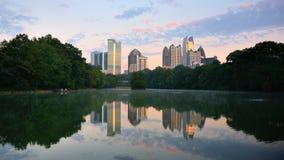 Atlanta's Piedmont Park. Midtown skyline as seen from Piedmont Park in Atlanta, Georgia, USA royalty free stock images