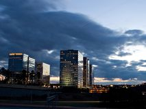 Atlanta scene. Atlanta night scene stock images