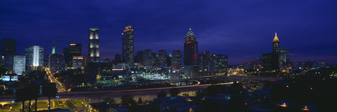 Atlanta Skyline. (After Olympics), Georgia Royalty Free Stock Photos