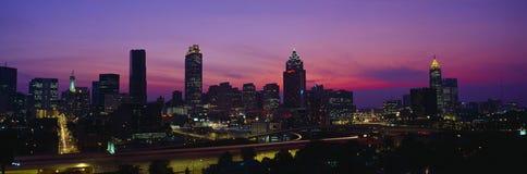 Atlanta Skyline. At sunset , Georgia Stock Photos