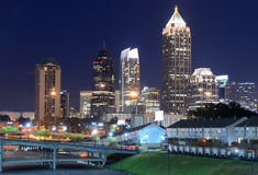 Atlanta Skyline above Freedom Parkway Royalty Free Stock Photography