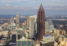 Atlanta-Skyline, Bank of Amerika Lizenzfreies Stockbild