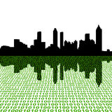 Atlanta skyline with binary Stock Photography