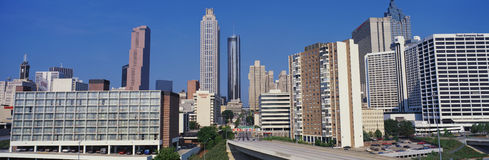 This is the Atlanta skyline in daylight. Royalty Free Stock Photo