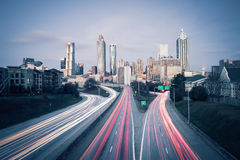 Atlanta skyline. At dusk, Georgia, USA Royalty Free Stock Image