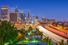 Atlanta Skyline. Atlanta, Georgia, USA downtown skyline over Interstate 85 Royalty Free Stock Photos