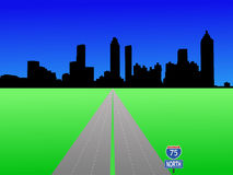 Atlanta Skyline and interstate Stock Images