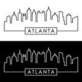 Atlanta skyline. Linear style. Stock Photography