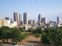 Atlanta Skyline. Atlanta looking north towards downtown Royalty Free Stock Photo