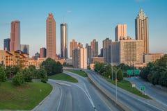Atlanta-Skyline morgens Stockbilder