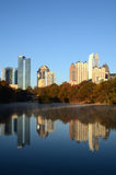 Atlanta Skyline Reflections Royalty Free Stock Images