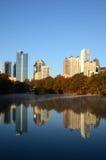 Atlanta Skyline Reflections Royalty Free Stock Images