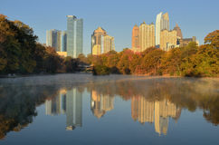 Atlanta Skyline Reflections Stock Photos