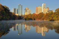 Atlanta Skyline Reflections Stock Photos