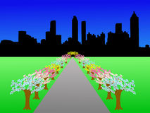 Atlanta skyline in spring Stock Image