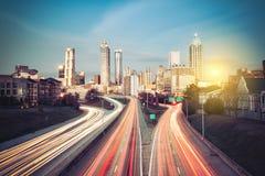 Atlanta skyline at sunny morning Stock Photos