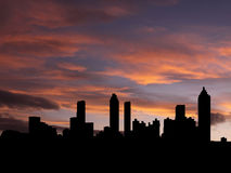 Atlanta skyline at sunset Royalty Free Stock Photo