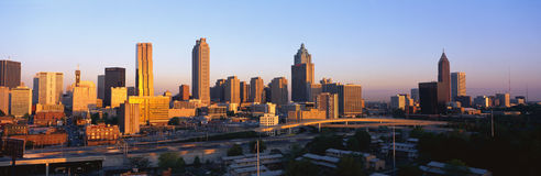Atlanta Skyline at sunset Stock Images