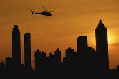 Atlanta skyline at sunset Royalty Free Stock Images