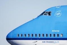Atlanta. Skyteam Atlanta KLM airplane in Amsterdam Stock Photography
