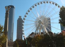 The Atlanta Skyview Ferris wheel Royalty Free Stock Photography