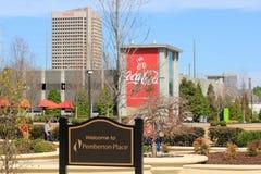 Atlanta - som är hem- av cocaen - colaföretag Royaltyfri Foto