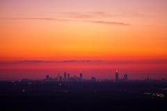 Atlanta som är i stadens centrum på skymning Royaltyfri Fotografi