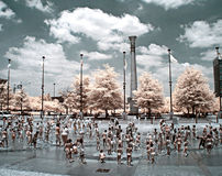 Atlanta springbrunn Arkivfoton