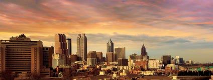 Atlanta stadshorisont Fotografering för Bildbyråer