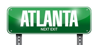 Atlanta street sign illustration design Stock Photos