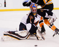 Atlanta Thrashers goalie Johan Hedberg #1. Royalty Free Stock Photos