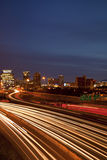 Atlanta traffic and skyline Royalty Free Stock Photography