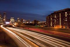 Atlanta traffic and skyline at sunrise sunset Stock Photo