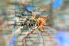 Atlanta, une ville aux USA images stock