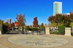 Atlanta, United States. ATLANTA, USA - OCTOBER 21: Pemberton Place on October 21, 2011 in Atlanta, USA. It is a complex that is home to the World of Coca-Cola stock image