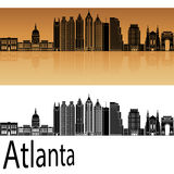 Atlanta V2 skyline in orange Stock Images