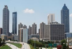 Atlanta van de binnenstad, Georgië Stock Afbeelding