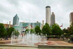 Atlanta van de binnenstad op een donkere dag royalty-vrije stock afbeeldingen