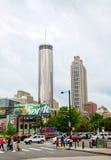 Atlanta van de binnenstad op een donkere dag Stock Afbeelding