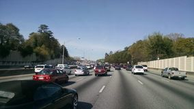 Atlanta-Verkehrsmittag Lizenzfreies Stockfoto