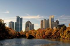 Atlanta vom Piedmont-Park Lizenzfreie Stockfotografie