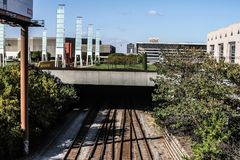 Atlantas Schienen unterirdisch stockfotos