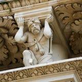 Atlante of Hercules at the Santa Croce baroque church in Lecce Royalty Free Stock Photos