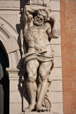 Atlante statue - bologna Royalty Free Stock Images