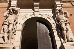 Atlante staty - bologna Royaltyfri Bild