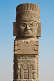 Atlantean figure in Tula. Mexico Royalty Free Stock Photo