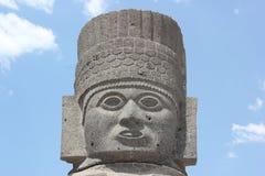 Atlantean Golum, Tula giganta kamienia wojownik przy hidalgem Meksyk Zdjęcia Stock